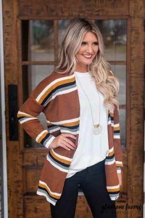 Standout Style Stripe Cardigan