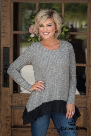 The Mindy Tunic - Charcoal