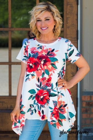 Catalina Floral Trapeze Tunic