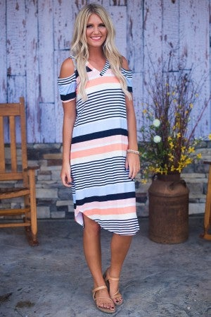 Hello Sunshine Cold Shoulder Dress