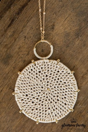 Cheryl's Crochet Pendant Necklace