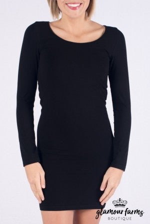 Curvy| Ahh-mazing Long Sleeve Dress Shaper