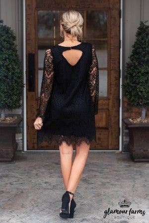 Warm Hearts Lace Dress