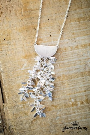 sku7976 | Leaves Dangle Necklace