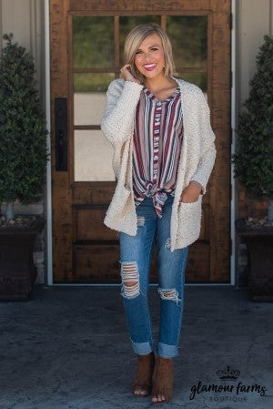 Hey Fever Oversized Cardigan