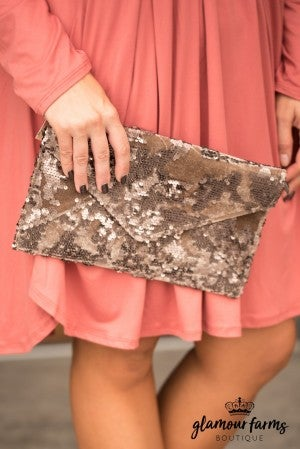 Fantasia Clutch - Bronze