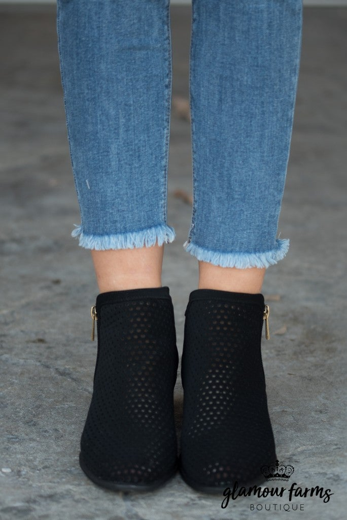 Sadie Perforated Bootie