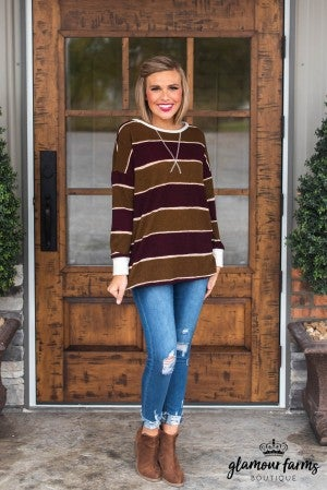 Easy Going Stripe Top