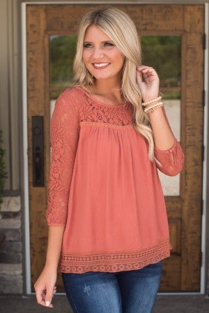 **Daily Deal** Sweet Attraction Lace Top