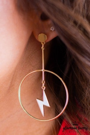 sku11738 | Lightning Dangle Earrings
