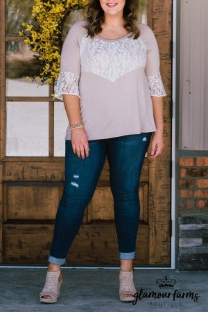 Lace To Go Knit Top