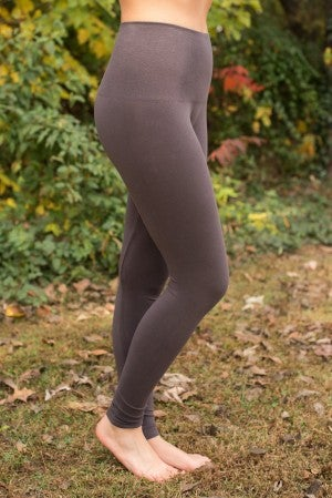 Ahh-Mazing Tummy Tuck Ankle Legging - Dark Gray