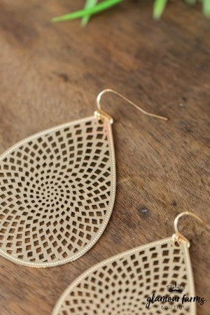 sku7861 | Small Filigree Teardrop Earrings