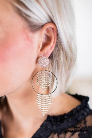 sku10516 | Pave Tassel Earrings