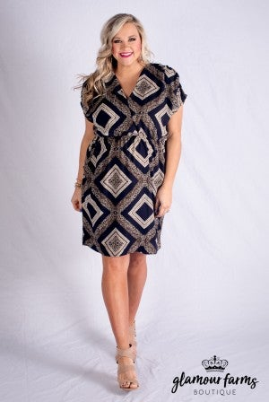 All For Classics Print Dress