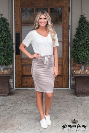 **Daily Deal** On The Boardwalk Midi Skirt