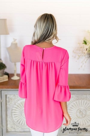 Coby Ruffle Sleeve Top