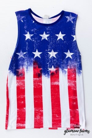 sku13020 | **Daily Deal** Distressed American Flag Tank
