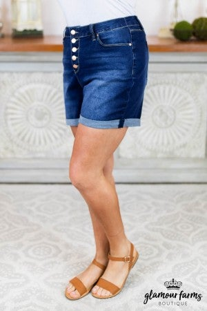 Gabbi Five Button Denim Shorts