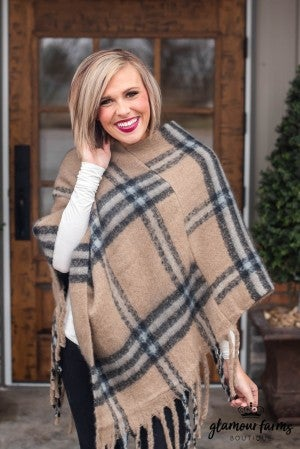 **Daily Deal** Frosty Morning Brushed Poncho