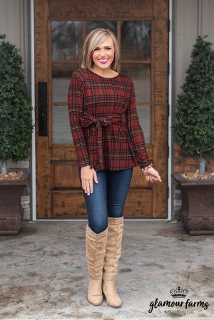 Holiday Chic Plaid Tunic