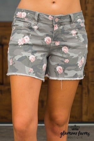 Love Of Floral And Camo Shorts