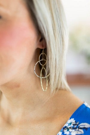 sku7885 | Double Oval Linked Earrings