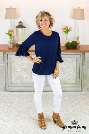 **Daily Deal** Simple Decision Tie Sleeve Top