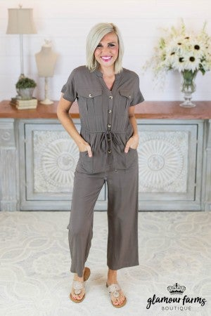 69520a9c9271a7 sku7793 | Button Up Drawstring Jumpsuit