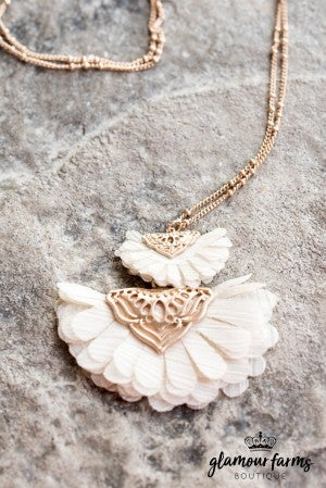Jordan Flower And Filigree Necklace