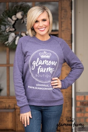 Curvy| Glamour Farms Logo Sweatshirt