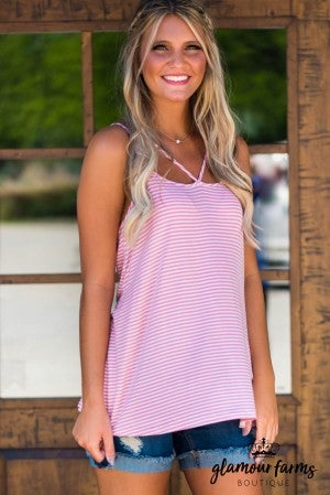 **Daily Deal** Sweet Stripe Layering Tank