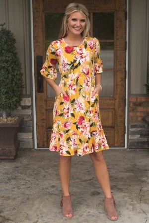 Peace And Love Floral Dress