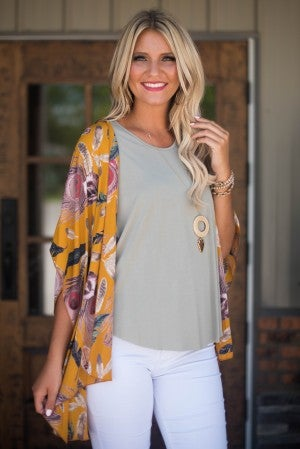 Fall For Feathers Kimono