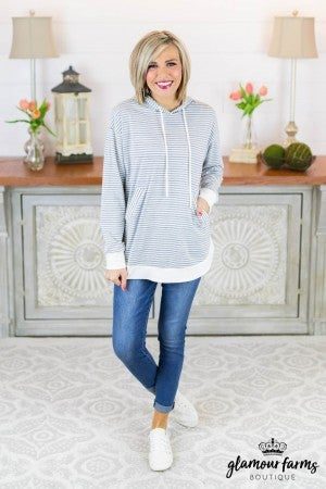 Call It Fate Stripe Hooded Tunic