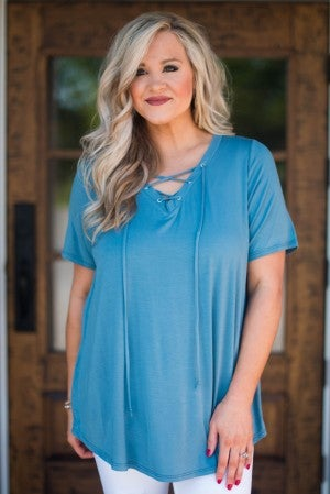 Beyond Comfort Lace-Up Tunic