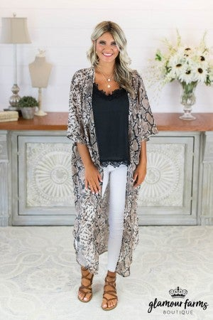 sku8199 | Animal Print Chiffon Cardigan