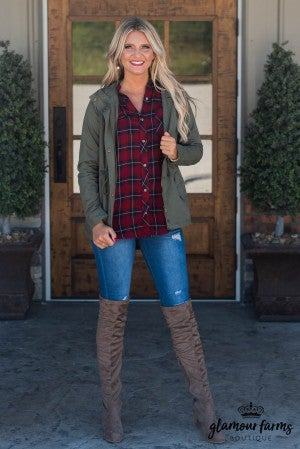 Addison Plaid Tunic