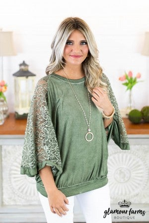 Gracie Open Arm Poncho Top