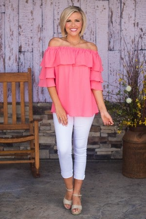 Summer Fling Off-Shoulder Top