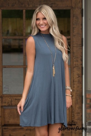 Swing Date Mock Neck Dress
