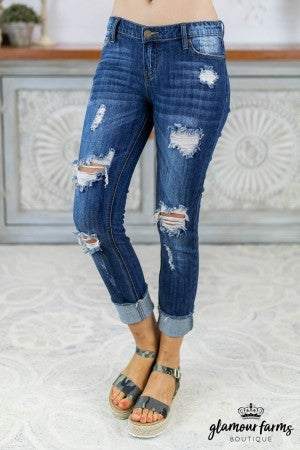 sku8135 | Distressed Skinny Jean