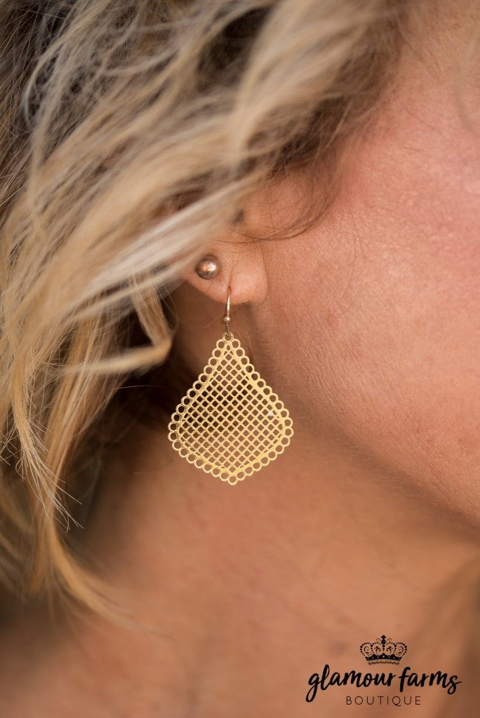 Russo Filigree Earrings - Gold