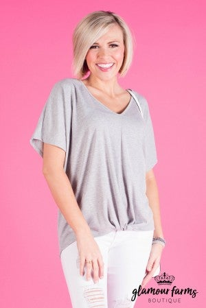 **Daily Deal** Love Tied Rib Knit Top