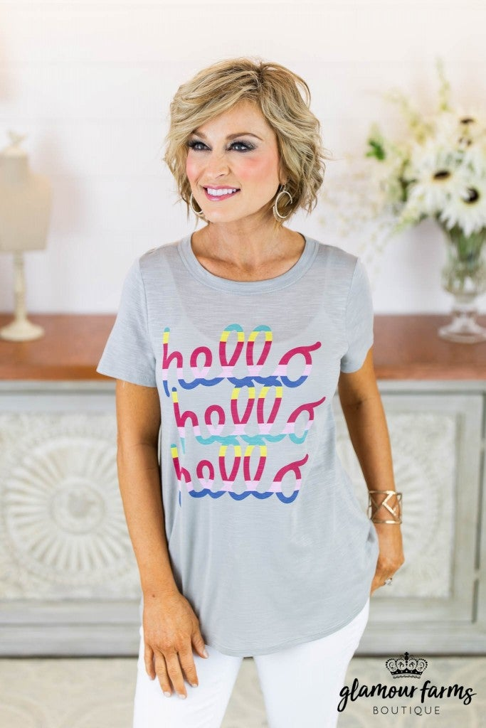 **Daily Deal** Hello Graphic Tee