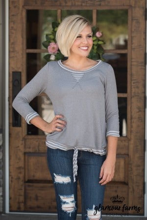 In Perfect Harmony Top - Gray