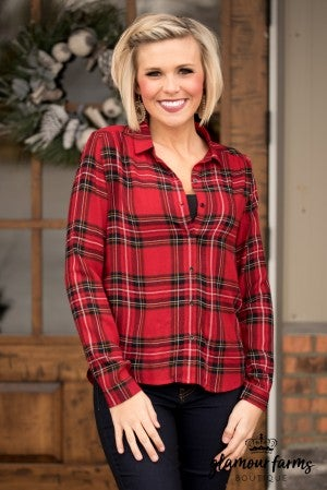 Estella Plaid Top