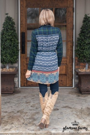 Lena Plaid Tunic