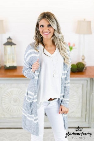 Bentley Stripe Sweater Cardigan