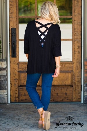 Down To Earth Criss Cross Top